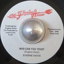 DETROIT FUNK 45 EUGENE DAVIS Who can you trust FLAMING ARROW LISTEN