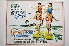 Original Vintage Movie Poster (Gidget Goes To Hawaiian half-sheet poster)