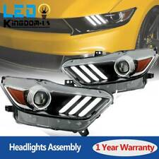 for 2015 2016 2017 Ford Mustang HID/Xenon LED Tube Projector Headlights Headlamp