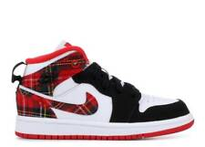 Nike Air Jordan 1 Mid PS 640734-607 Retro Plaid University Red Black White Kids