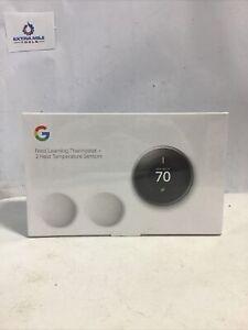 Google NEST Learning Thermostat + 2 SENSORS  (BH1252-US)