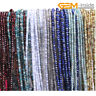 "Natural AAA Faceted Gemstone Rondelle Heishi Spacer Beads Jewellery Making 15""CA"