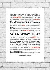 Dougie Maclean - Caledonia - Song Lyric Art Poster - A4 Size