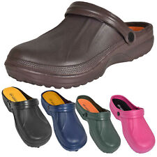 Womens Mens Beach Pool Chef Hospital Garden Clogs Slip on Mules Sandal Size 4-11