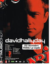 PUBLICITE ADVERTISING 015  2004  NRJ radio DAVID HALLYDAY en concert à LA CIGALE