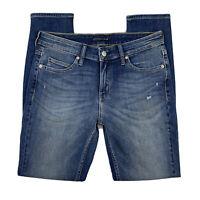 Calvin Klein Jeans Women W29 x L30 Pants Skinny Denim Mid Rise Medium Wash Blue