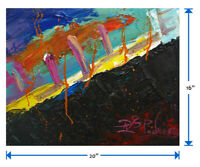 SIGNED ABSTRACT FLOWERS FLORAL█ORIGINAL█OIL█PAINTING█OUTSIDER█IMPRESSIONISM ART