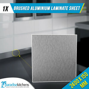 brushed aluminium laminate for kitchen kickboard plinth 2.4