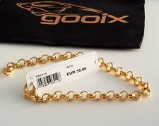 GOOIX Edelstahl vergoldet Damen Armkette Charm Armband GXC415 L 21 cm NEU G15
