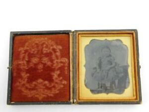 Antique Ambrotype Portrait Photograph in Album Case of Child GOOD CONDITION