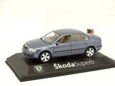 Kaden 1/43 - Skoda Superb 2001 Blue Grey