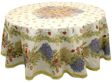 """70"""" Round COATED Provence Tablecloth - Rose Lavender"""