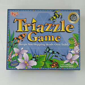 'TRIAZZLE' EC BOARD GAME FUN STRATEGY - MATCH FROG HEADS & TAILS