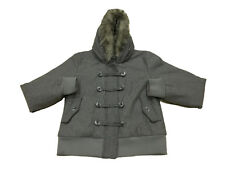 Womens Clothes Bench Winter Coat Faux Fur Hooded Grey Warm Jacket Casual XL @
