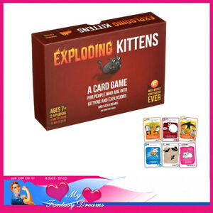 Exploding Kittens UNO Style Card Strategy Game 2-5 Players Hens Night Games Fun