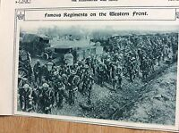 t1-9 ephemera ww1 1916 picture the worcesters at the front