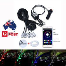 6 in 1 Car Interior RGB 8M LED Decor Neon Fiber Optical Strip Light App Control