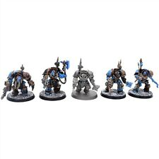 Warhammer 40k Chaos Space Marine Terminators x 5 Painted