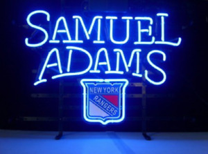 "New York Rangers Samuel Adams Neon Lamp Sign 17""x14"" Bar Lighting Beer Glass"