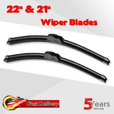 "22"" & 21"" BRACKETLESS WINDSHIELD WIPER BLADES All Season Premium OEM QUALITY New"