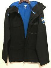 ADIDAS ORIGINALS Hooded Coat Jacket Parka Black Small S