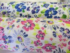 Telas y tejidos florales Blanco para costura y mercería