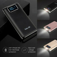 100000mAh External Backup Battery USB LCD Power Bank Pack Charger For Cell Phone
