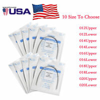 20 bags Dental Ortho Super Elastic Niti Round Arch Wire Ovoid Upper Lower USA