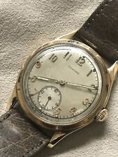 CONCORD 14K Yellow Gold Swiss Mens Watch Leather Runs Antique Vintage