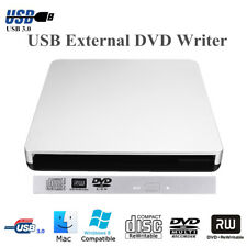 CD/DVD Writer Burner Drive Case USB 3.0 SATA 9.5mm External Enclosure For Laptop