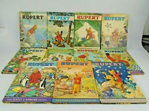 Rupert The Annual Daily Express Annuals 1969-1979