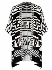 Crossroads AZTEC cardi short sleeve KNIT open drape cardigan  jacket L XL 16 18