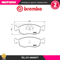 P23079 Kit pastiglie freno a disco ant Fiat (MARCA-BREMBO)