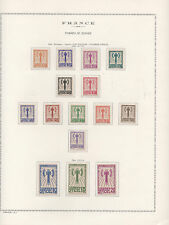 """FRANCE STAMP TIMBRES SERVICE YVERT 1 / 15 """" FRANCISQUE SET 1943 """" MNH VF M815AE"""