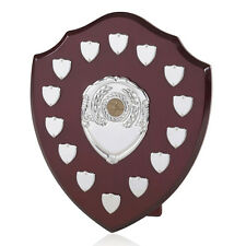 ANNUAL SHIELD HIGH QUALITY WOODEN PERPETUAL TROPHY AWARD 14 SIDE SHIELDS BPS12