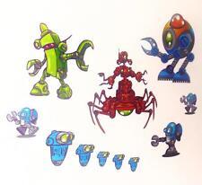 Childrens Kids Girls Boys Bedroom Robot Monster Alien Wall Stickers Decals