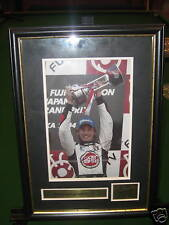SIGNED & FRAMED JENSON BUTTON  F1 PICTURE  *AWESOME*