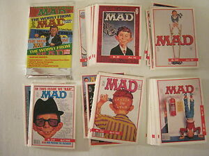MAD MAGAZINE SERIES 1 1992 TRADING CARD SET - 55 CARD SET (LIME ROCK)