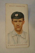 1908 Vintage Wills Cricket Card - E. Arnold - Worcestershire.