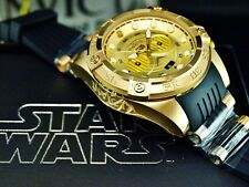 Invicta Star Wars Mens C3PO 52mm Limited Edition Chronograph SS Gold Tone Watch