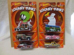 LOONEY TUNES FULL SET 6 CARS REAL RIDERS HOT WHEELS