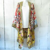 New Umgee Duster Kimono Cardigan 1X 2X Asian Floral Boho Peasant Plus Size
