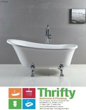 Fienza Clawfoot Acrylic Bath Gloss White With Chrome Feet 1500mm