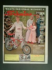 1969 Schwinn Candy Apple Red~Krates Bicycles~Sting~Rays Oddball Bike Trade AD