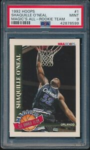 1992-93 Hoops Magic's All-Rookie Team Shaquille O'Neal Rookie RC #1 PSA 9 MINT