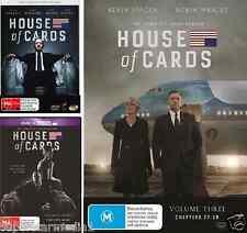 House Of Cards Season 1, 2 & 3 : NEW DVD