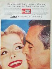 1959 Lennox all season air conditioning man kissing woman's touch ad