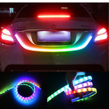RGB Rainbow Flow Type LED Strip Tailgate Turn Signal Light Bar Trunk Strips Lamp