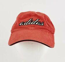 ADIDAS hat Baseball Cap Corduroy Logo Orange Spell Out