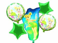 Tinkerbell Fairy Helium Balloon Set (x 5) Girls Happy Birthday party decoration